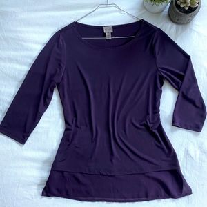 Chico's Tops - Easywear by Chico's Blouse (plum)